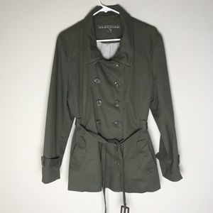 Kenneth Cole Reaction Trench Coat Green